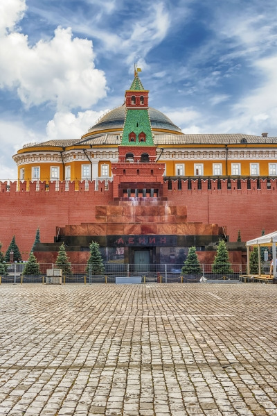 Lenin's Mausoleum, iconic landmark in Red Square, Moscow, Russia