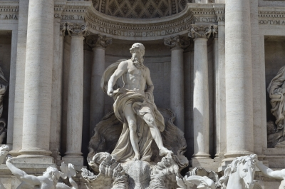 Statue of Neptune, part of the Trevi Fountain, Rome, Italy