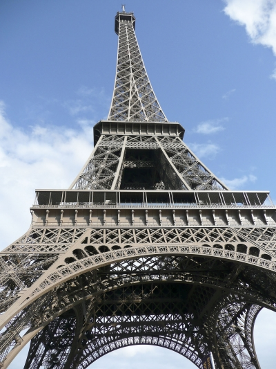 Eiffel Tower, view from the ground, Paris, France