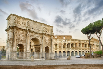 """Arch of Constantine and The Colosseum, Rome, Italy - <a href=""""https://marcorubinophoto.com/product/arch-of-constantine-and-the-colosseum-rome-italy-2"""">BUY NOW</a>"""