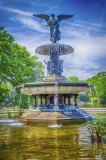 Bethesda Fountain in Central Park, New York City, USA