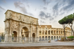 Arch of Constantine and The Colosseum, Rome, Italy