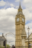 The Big Ben and London Eye, London, UK