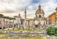 "Scenic ruins of the Trajan's Forum and Column, Rome, Italy - <a href=""https://marcorubinophoto.com/product/scenic-ruins-of-the-trajans-forum-and-column-rome-italy-3"">BUY NOW</a>"