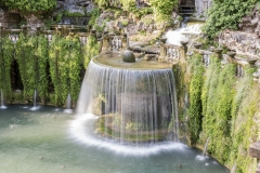 The Oval Fountain in Villa d'Este, Tivoli, Italy