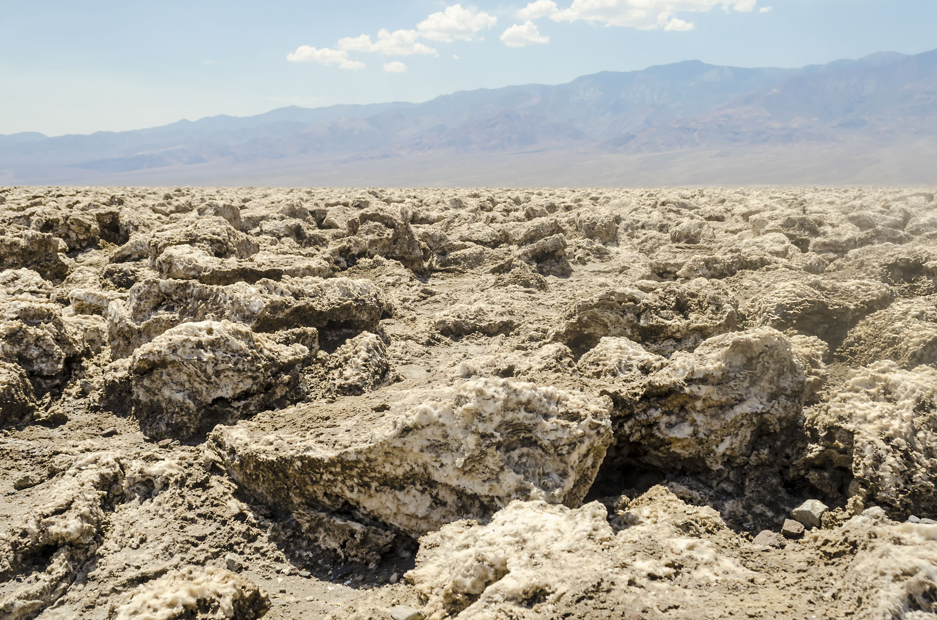Devil's Golf Course, deserted view in Death Valley, USA