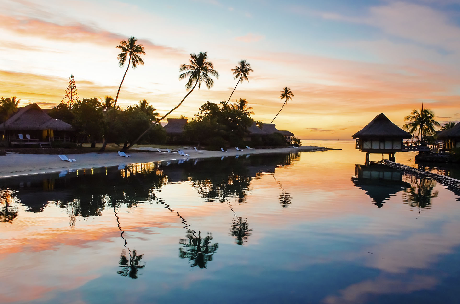 Tropical sunset, French Polynesia