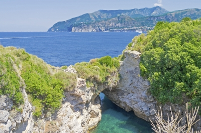 Beautiful natural pool in Sorrento, Bay of Naples, Italy