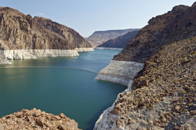 Colorado river near the Hoover Dam, Nevada, USA