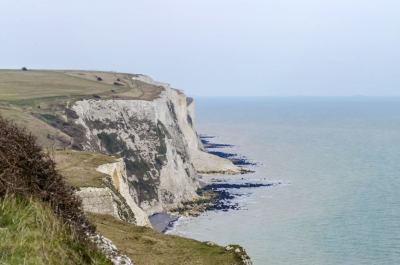 The white cliffs of Dover, UK