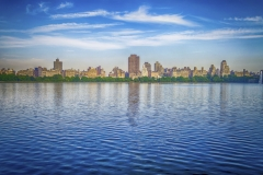 Reservoir in Central Park, New York City, USA