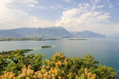 Aerial view from the Manerba Rock on Lake Garda, Italy