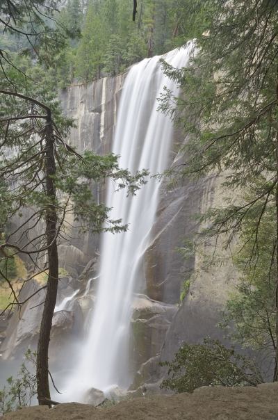 Vernal Falls, iconic waterfall in Yosemite National Park, USA