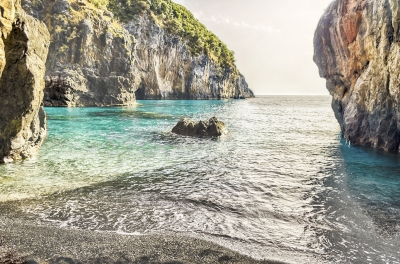 Arcomagno beach, Coast of the Cedars, Tyrrhenian Sea, Italy