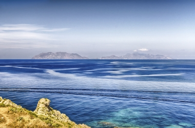 View of the Aeolian Islands, Italy