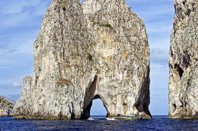 Scenic view of the Faraglioni rocks, island of Capri, Italy