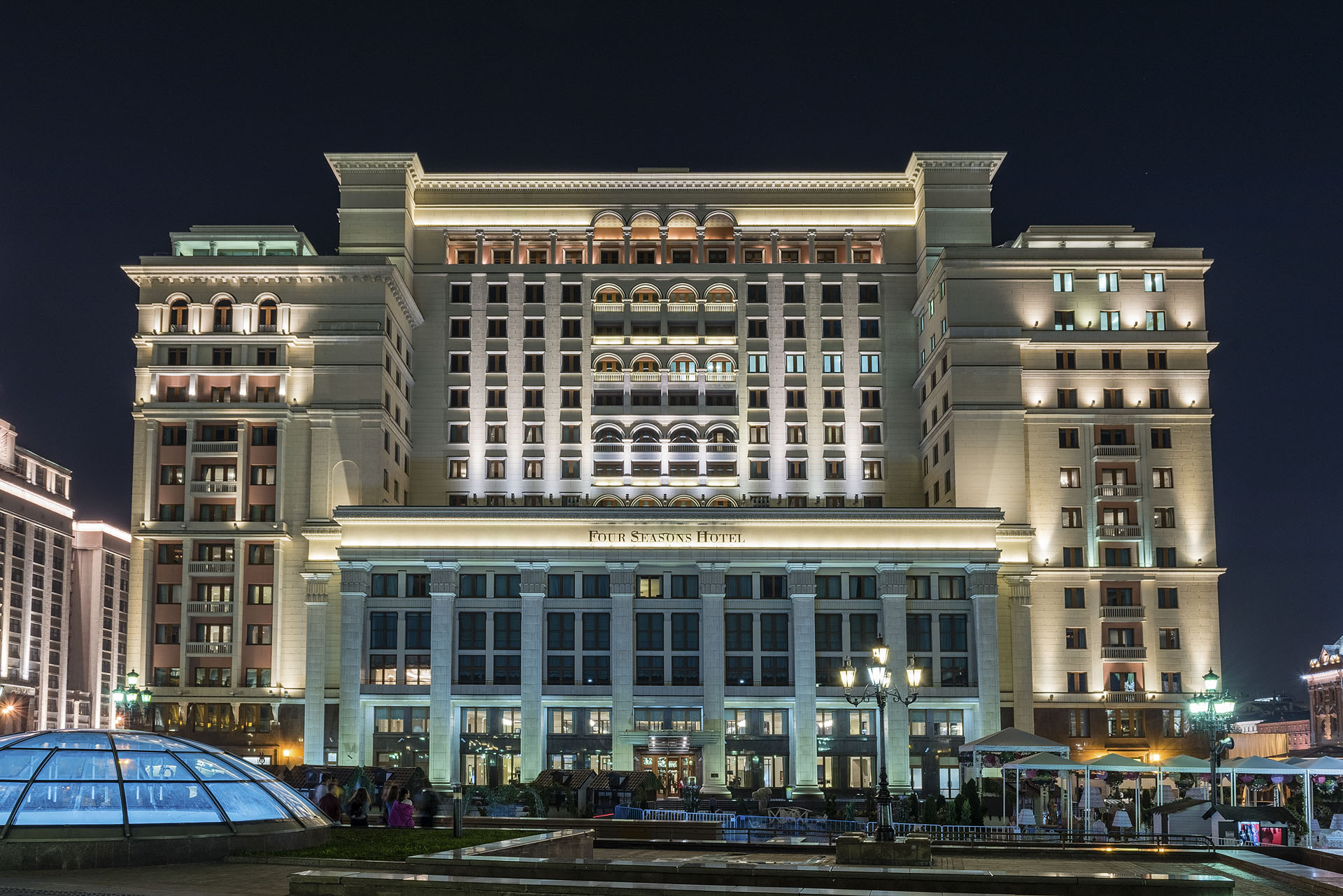 Facade of the Four Season Hotel in Moscow, Russia