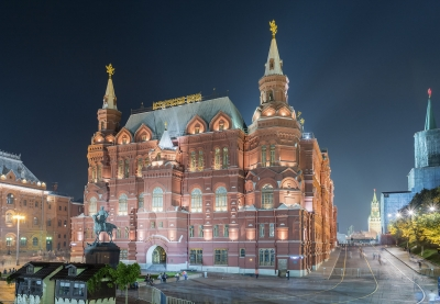 """The State Historical Museum and Marshal Zhukov statue, Moscow, Russia - <a href=""""https://marcorubinophoto.com/product/the-state-historical-museum-and-marshal-zhukov-statue-moscow-russia-6"""">BUY NOW</a>"""
