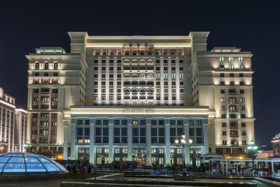 """Facade of the Four Season Hotel in Moscow, Russia - <a href=""""https://marcorubinophoto.com/product/facade-of-the-four-season-hotel-in-moscow-russia"""">BUY NOW</a>"""