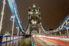 Tower Bridge at night, London, UK