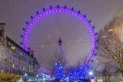 The London Eye ferries wheel at night, London, UK