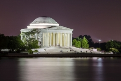 Jefferson Memorial at night in Washington DC, USA