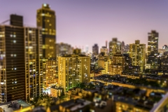 Upper East Side, New York, USA. Tilt-shift effect applied