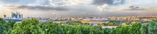 """Panoramic view of central Moscow from Sparrow Hills. Russia - <a href=""""https://marcorubinophoto.com/product/panoramic-view-of-central-moscow-from-sparrow-hills-russia"""">BUY NOW</a>"""