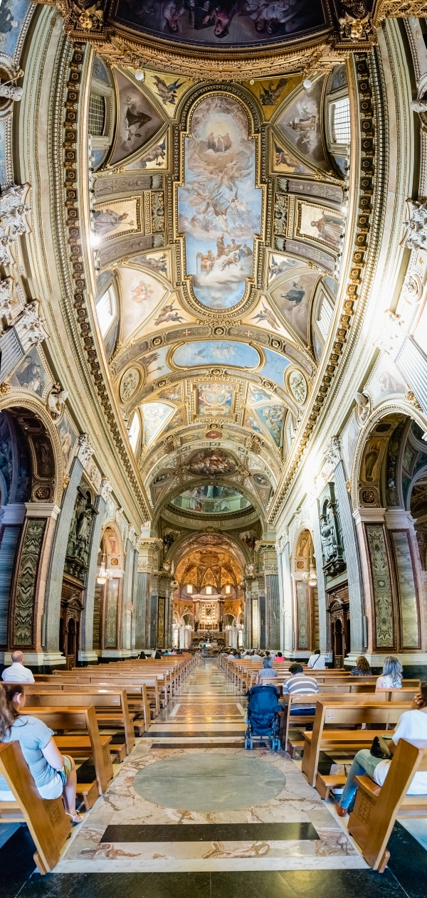 Inside the Church of Our Lady of Rosary, Pompei, Italy