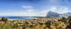 Panoramic view of San Vito Lo Capo, Italy