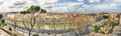 Panoramic view from Aventine Hill in Rome, Italy