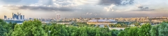 Panoramic view of central Moscow from Sparrow Hills. Russia