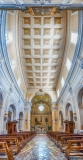 Panoramic view inside Church of San Francesco, Massa Lubrense, Italy
