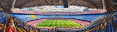 Panoramic view of Camp Nou stadium, Barcelona, Catalonia, Spain