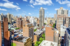 Upper East Side, New York City, USA. Tilt-shift effect applied