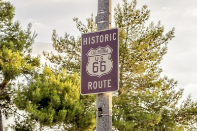"Historic Route 66 street sign in California, USA - <a href=""https://marcorubinophoto.com/product/historic-route-66-sign-in-california-usa"">BUY NOW</a>"