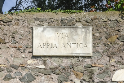 "Ancient Appian Way sign in Rome, Italy - <a href=""https://marcorubinophoto.com/product/ancient-appian-way-sign-in-rome-italy"">BUY NOW</a>"