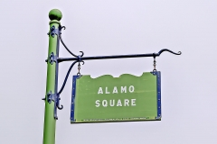 Alamo Square Sign in San Francisco, USA