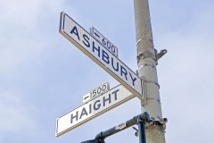 Haight-Ashbury street sign in San Francisco, USA