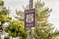 Historic Route 66 street sign in California, USA