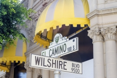 Wilshire Boulevard sign, Beverly Hills, USA