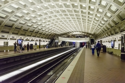 Metro Center subway station in Washington DC, USA