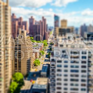 2nd Avenue, New York City, USA. Tilt-shift effect applied