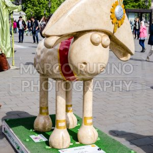 Aardman's Shaun The Sheep Character in Central London, UK