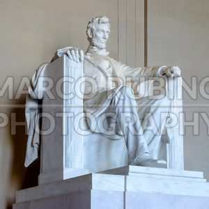 Abraham Lincoln monument inside Lincoln Memorial, Washington DC, USA