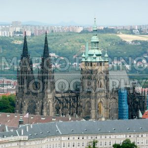Aerial View of St. Vitus Cathedral, Prague, Czech Republic