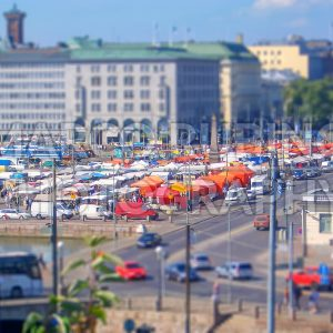 Aerial View of the Market Square, Helsinki, Finland