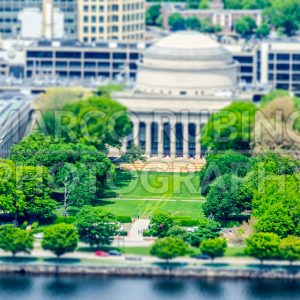 Aerial view of Boston Massachusetts Institute of Technology Campus, USA
