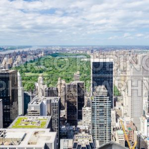 Aerial view of Central Park and Manhattan, New York, USA