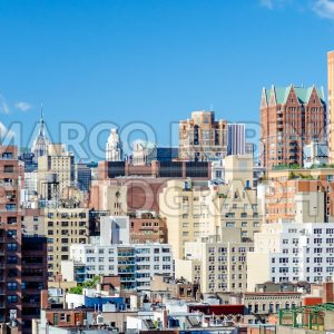 Aerial view of Upper East Side, New York City, USA